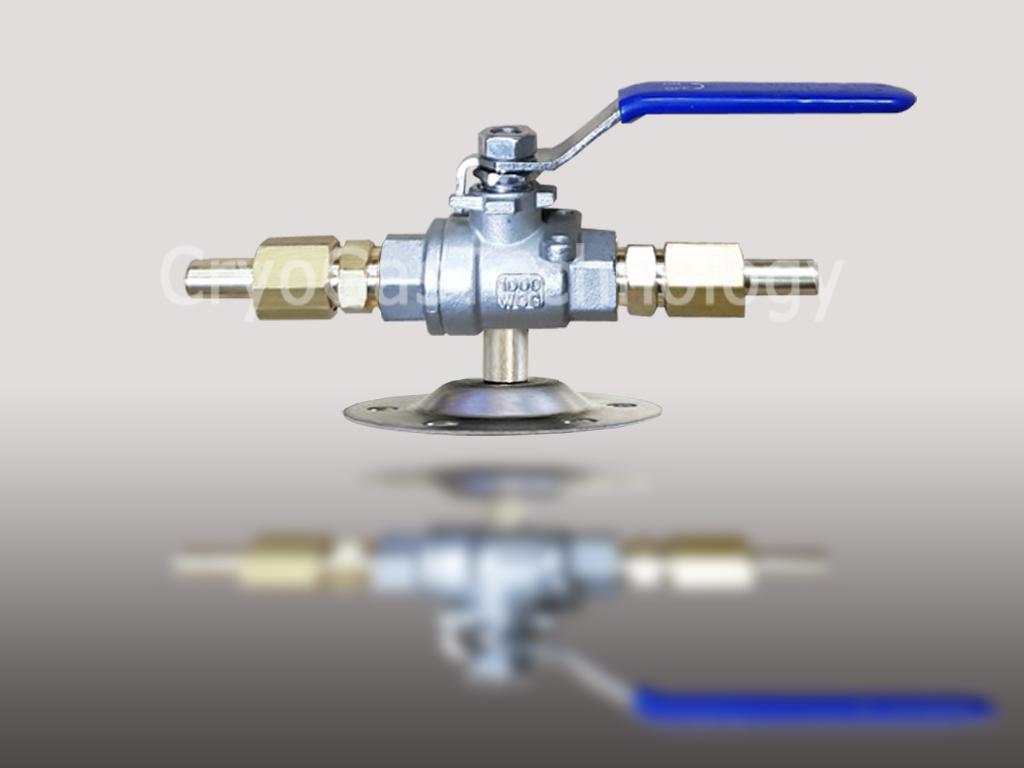 Клапан запорный магистральный КЗМ-(Dn10 - Dn10)