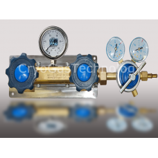 Рампа разрядная для 2-х баллонов с манометром и регулятором