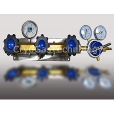 Рампа разрядная для 3-х баллонов с манометром и регулятором