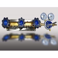 Рампа разрядная для 3-х баллонов с регулятором