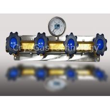 Рампа разрядная для 4-х баллонов с манометром