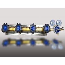 Рампа разрядная для 4-х баллонов с регулятором