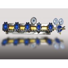 Рампа разрядная для 5-ти баллонов с манометром и регулятором