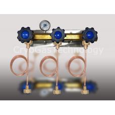 Рампа разрядная для 3-х баллонов с манометром